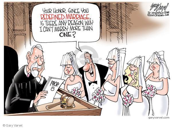 Cartoonist Gary Varvel  Gary Varvel's Editorial Cartoons 2010-08-06 marriage