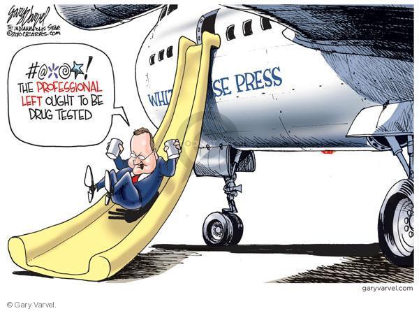 Cartoonist Gary Varvel  Gary Varvel's Editorial Cartoons 2010-08-12 press secretary