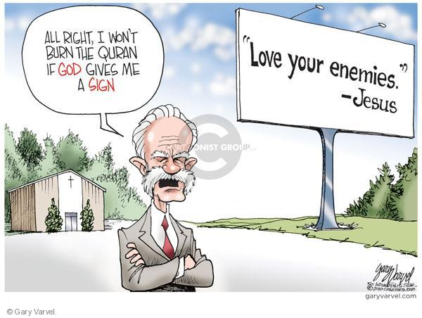 Cartoonist Gary Varvel  Gary Varvel's Editorial Cartoons 2010-09-10 book burning