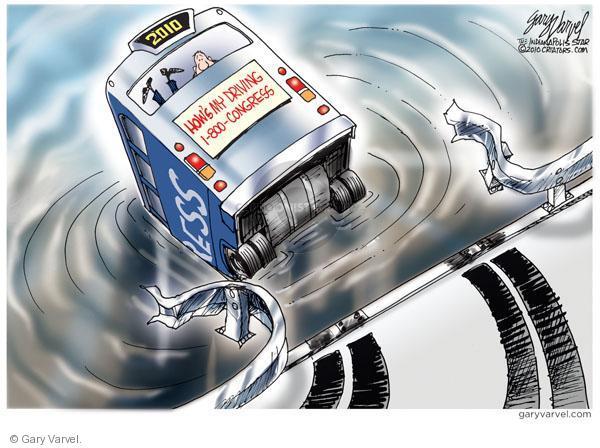 Gary Varvel  Gary Varvel's Editorial Cartoons 2010-09-11 bus