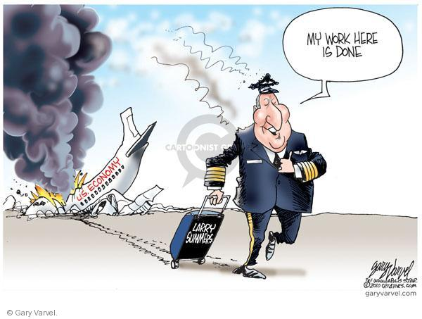 Cartoonist Gary Varvel  Gary Varvel's Editorial Cartoons 2010-09-23 economy