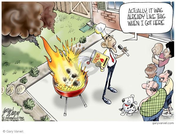 Cartoonist Gary Varvel  Gary Varvel's Editorial Cartoons 2010-10-01 blame Obama