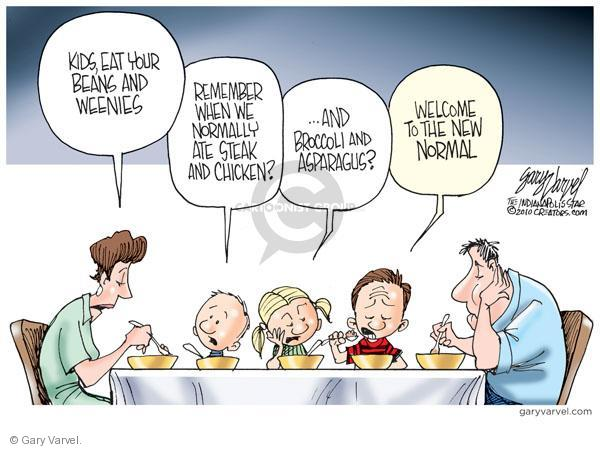 Cartoonist Gary Varvel  Gary Varvel's Editorial Cartoons 2010-10-02 economy