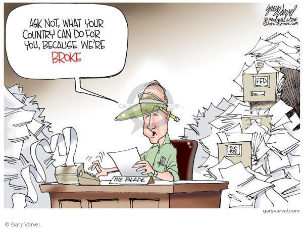 Cartoonist Gary Varvel  Gary Varvel's Editorial Cartoons 2010-10-12 social security