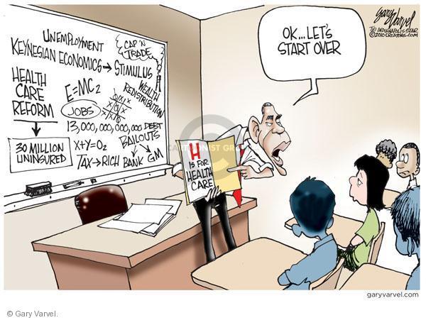 Cartoonist Gary Varvel  Gary Varvel's Editorial Cartoons 2010-11-07 Obama economy