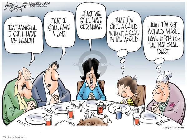 Cartoonist Gary Varvel  Gary Varvel's Editorial Cartoons 2010-11-23 family