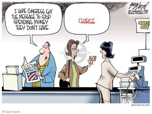 Cartoonist Gary Varvel  Gary Varvel's Editorial Cartoons 2010-11-26 economy