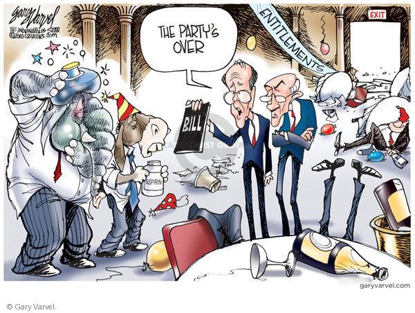 Cartoonist Gary Varvel  Gary Varvel's Editorial Cartoons 2010-12-02 social spending