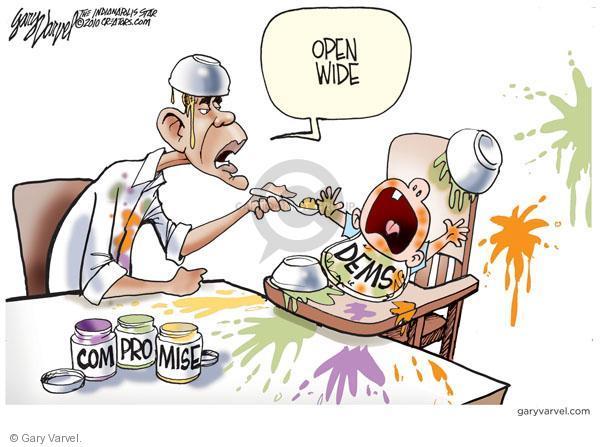 Cartoonist Gary Varvel  Gary Varvel's Editorial Cartoons 2010-12-10 democratic
