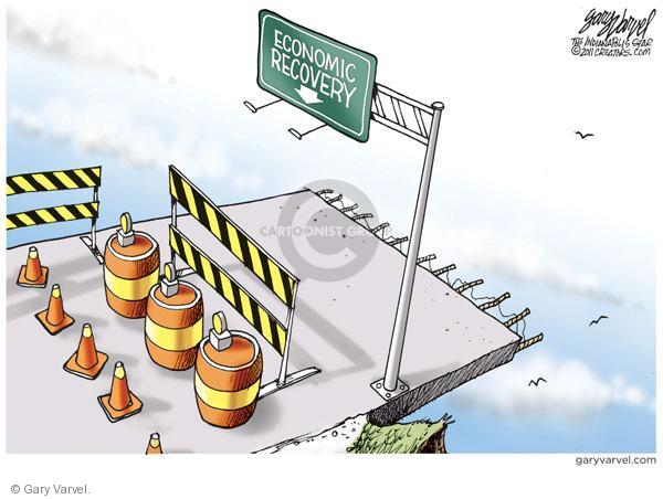 Cartoonist Gary Varvel  Gary Varvel's Editorial Cartoons 2011-01-14 economy