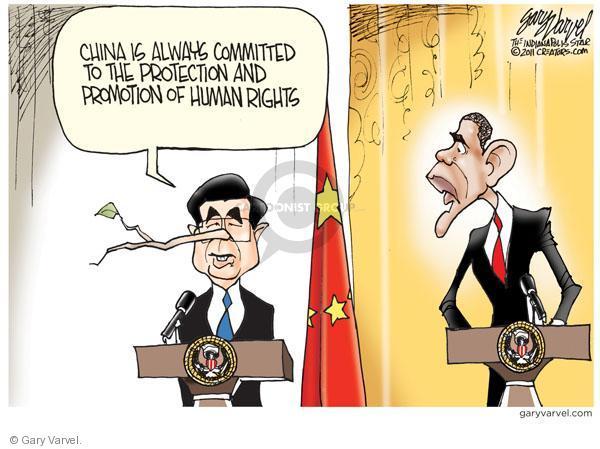 Cartoonist Gary Varvel  Gary Varvel's Editorial Cartoons 2011-01-20 China