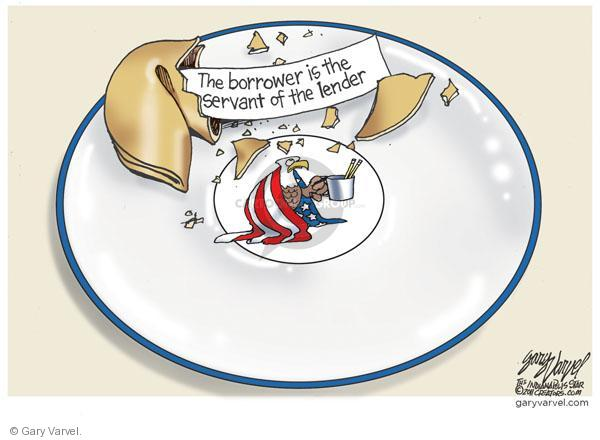 Cartoonist Gary Varvel  Gary Varvel's Editorial Cartoons 2011-01-20 fortune cookie