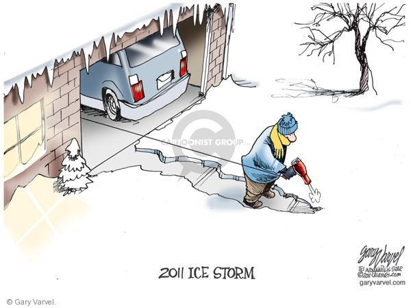 Cartoonist Gary Varvel  Gary Varvel's Editorial Cartoons 2011-02-03 winter storm