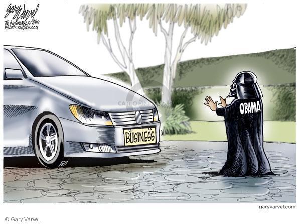 Cartoonist Gary Varvel  Gary Varvel's Editorial Cartoons 2011-02-09 Obama economy