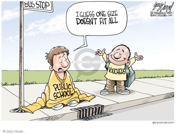 Gary Varvel  Gary Varvel's Editorial Cartoons 2011-02-18 bus