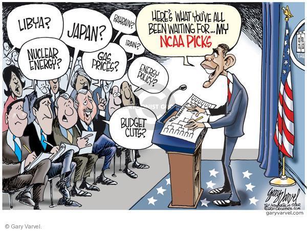 Cartoonist Gary Varvel  Gary Varvel's Editorial Cartoons 2011-03-16 Obama economy