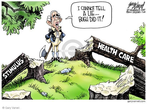 Cartoonist Gary Varvel  Gary Varvel's Editorial Cartoons 2011-04-14 Obama economy