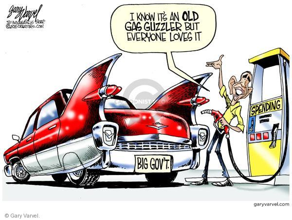 Big Govt.  I know its an old gas guzzler but everyone loves it.  Spending.