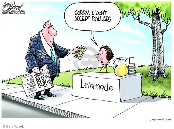 Cartoonist Gary Varvel  Gary Varvel's Editorial Cartoons 2011-04-21 dollar