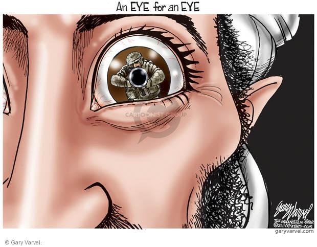 Cartoonist Gary Varvel  Gary Varvel's Editorial Cartoons 2011-05-03 eye