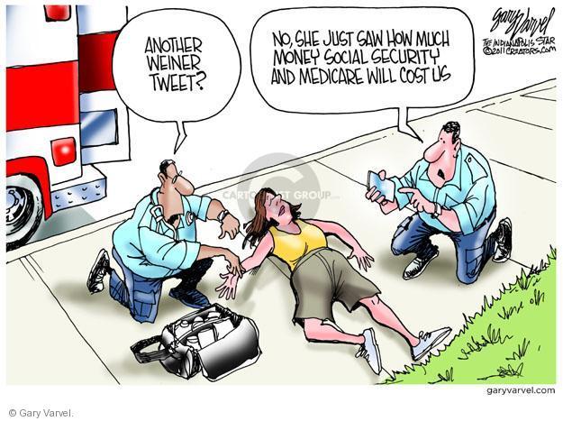 Cartoonist Gary Varvel  Gary Varvel's Editorial Cartoons 2011-06-09 social security
