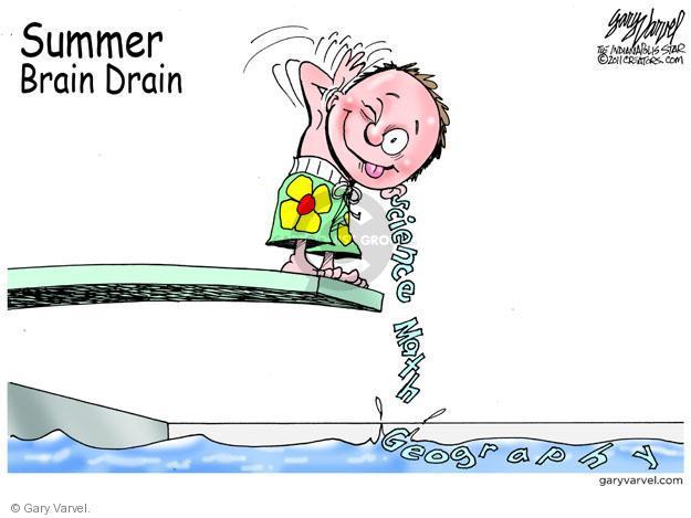 Cartoonist Gary Varvel  Gary Varvel's Editorial Cartoons 2011-06-12 drain