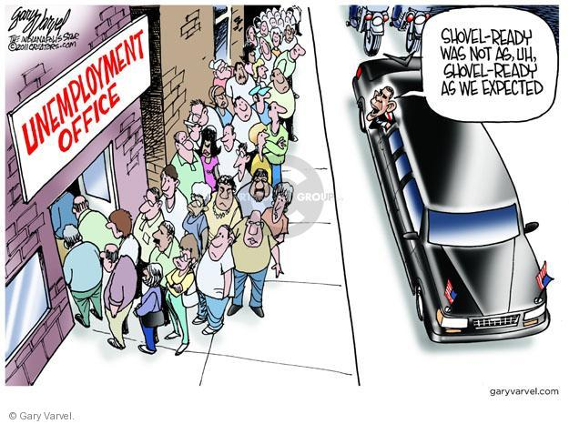 Cartoonist Gary Varvel  Gary Varvel's Editorial Cartoons 2011-06-15 Obama economy