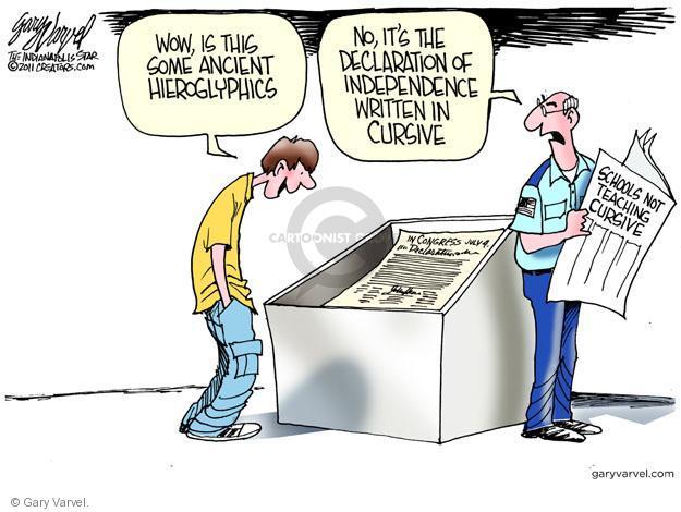 Cartoonist Gary Varvel  Gary Varvel's Editorial Cartoons 2011-07-16 Declaration of Independence