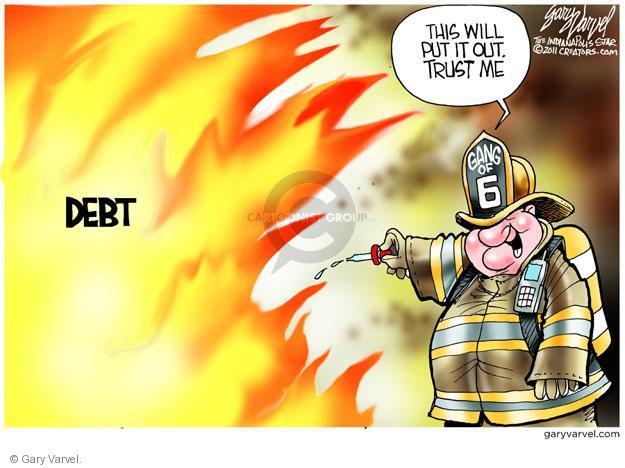 Gary Varvel  Gary Varvel's Editorial Cartoons 2011-07-21 confrontation