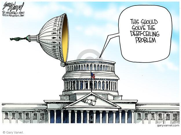 Cartoonist Gary Varvel  Gary Varvel's Editorial Cartoons 2011-07-24 Capitol Hill