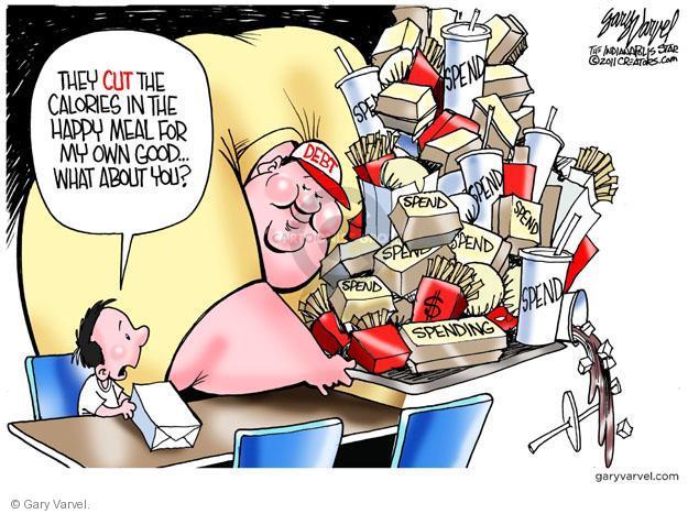 Gary Varvel  Gary Varvel's Editorial Cartoons 2011-07-28 federal budget