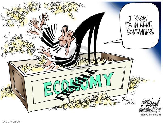 Cartoonist Gary Varvel  Gary Varvel's Editorial Cartoons 2011-08-07 Obama economy