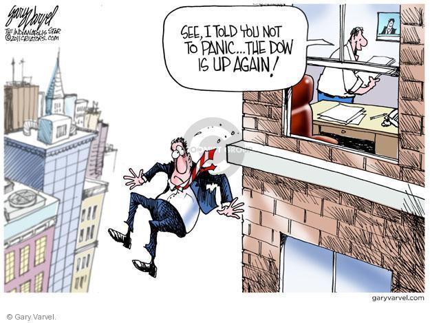 Cartoonist Gary Varvel  Gary Varvel's Editorial Cartoons 2011-08-12 Wall Street