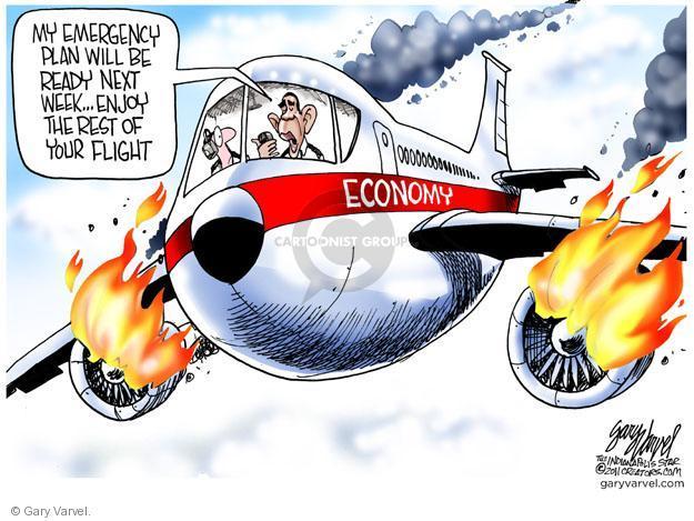 Cartoonist Gary Varvel  Gary Varvel's Editorial Cartoons 2011-08-30 airplane