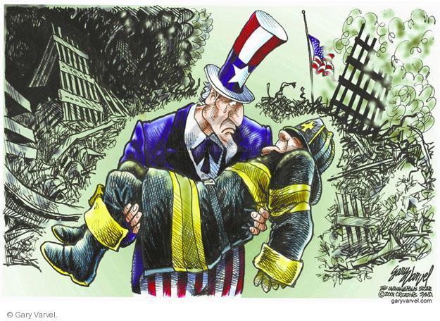 Cartoonist Gary Varvel  Gary Varvel's Editorial Cartoons 2011-09-11 uncle