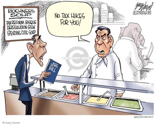 Cartoonist Gary Varvel  Gary Varvel's Editorial Cartoons 2011-09-18 Obama Boehner