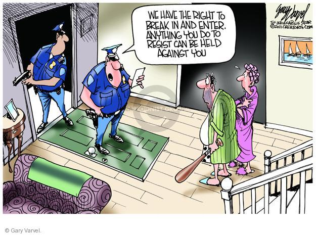 Cartoonist Gary Varvel  Gary Varvel's Editorial Cartoons 2011-09-22 officer