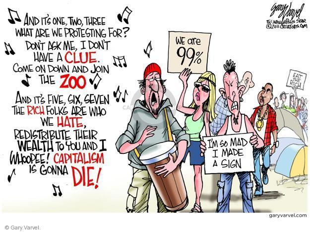 Cartoonist Gary Varvel  Gary Varvel's Editorial Cartoons 2011-10-12 Wall Street