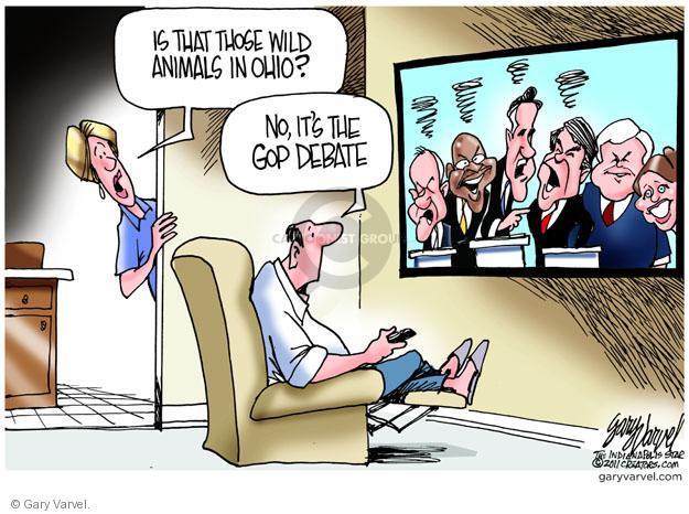 Cartoonist Gary Varvel  Gary Varvel's Editorial Cartoons 2011-10-20 2012 election