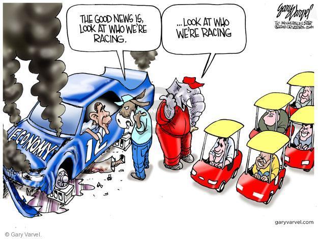 Gary Varvel  Gary Varvel's Editorial Cartoons 2011-11-07 2012 election economy