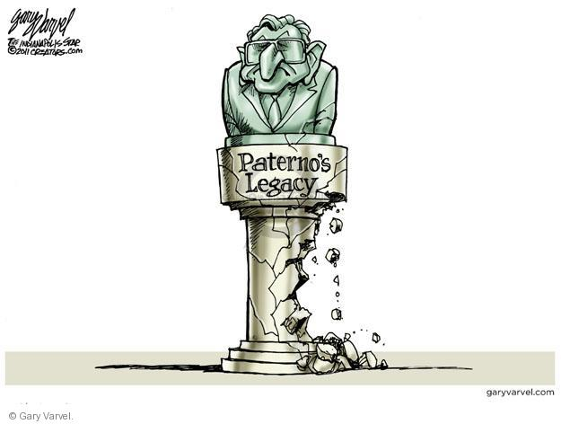 Cartoonist Gary Varvel  Gary Varvel's Editorial Cartoons 2011-11-10 abuse