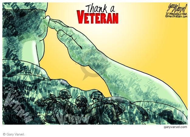 Cartoonist Gary Varvel  Gary Varvel's Editorial Cartoons 2011-11-11 Veterans Day