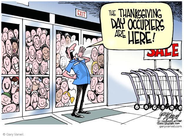 Cartoonist Gary Varvel  Gary Varvel's Editorial Cartoons 2011-11-23 sale