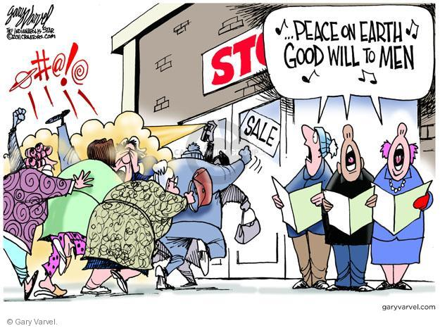 Gary Varvel  Gary Varvel's Editorial Cartoons 2011-11-27 peace