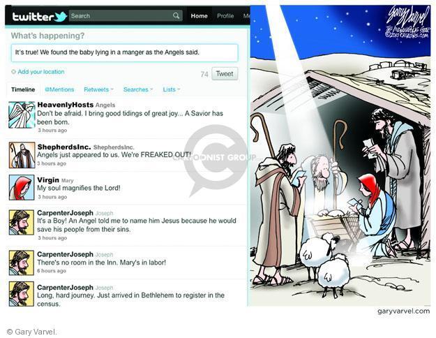 Cartoonist Gary Varvel  Gary Varvel's Editorial Cartoons 2011-12-25 tweet