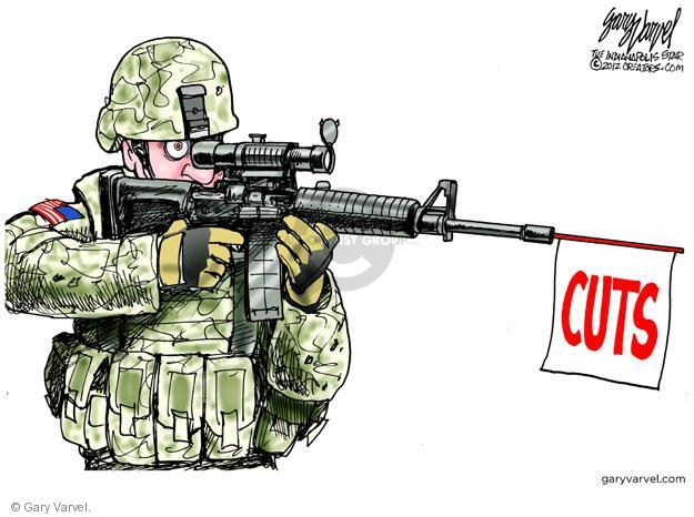Cartoonist Gary Varvel  Gary Varvel's Editorial Cartoons 2012-01-09 weaponry