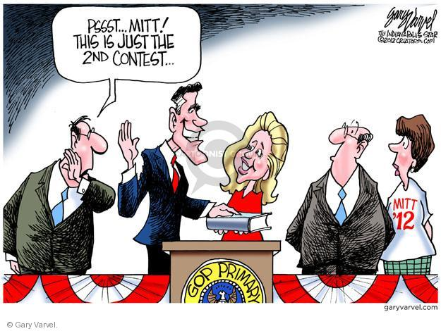 Cartoonist Gary Varvel  Gary Varvel's Editorial Cartoons 2012-01-12 2012 primary
