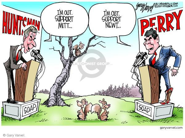 Cartoonist Gary Varvel  Gary Varvel's Editorial Cartoons 2012-01-20 2012 primary