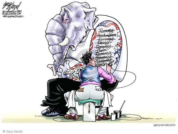 Cartoonist Gary Varvel  Gary Varvel's Editorial Cartoons 2012-02-16 GOP