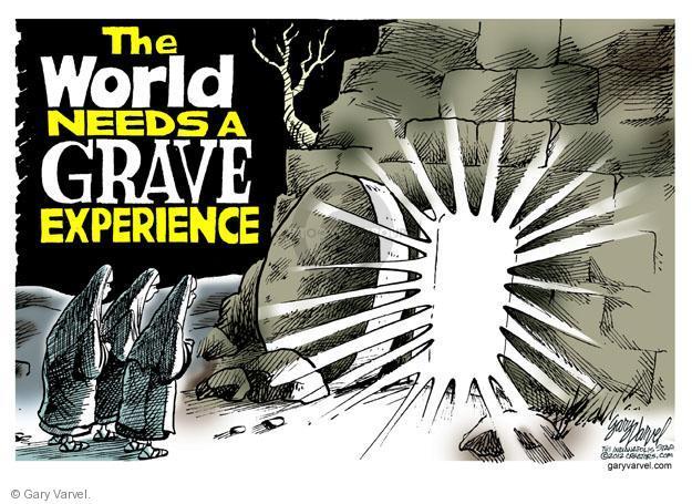 Cartoonist Gary Varvel  Gary Varvel's Editorial Cartoons 2012-04-08 resurrect